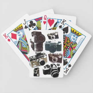 Grunge photographer photography Vintage Camera Bicycle Playing Cards