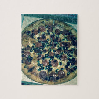 Grunge pizza apparel and items jigsaw puzzle