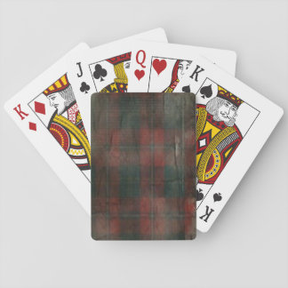 """Grunge Plaid"" ""Grunge Flower"" Playing Cards"