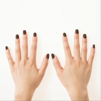 Grunge Plaid Minx Nail Art