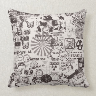Grunge  Polyester Throw Pillow