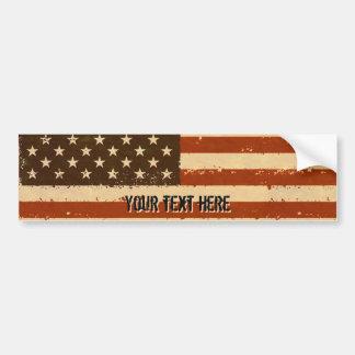 Grunge Retro American Flag Bumper Sticker