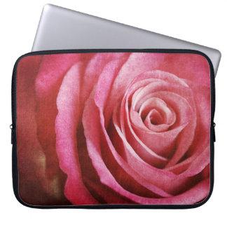 Grunge rose laptop case laptop computer sleeves