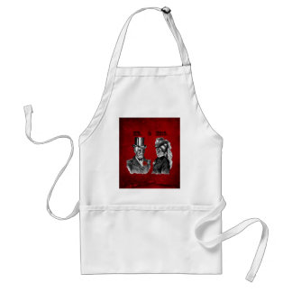 Grunge Skull Wedding & Anniversary Party Standard Apron