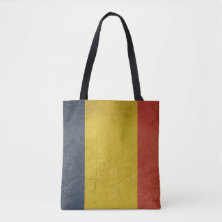 Grunge sovereign state flag of Romania Tote Bag