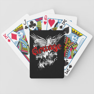Grunge Splatter Wings Playing Cards Red