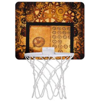 Grunge Steampunk Gears Mini Basketball Hoop