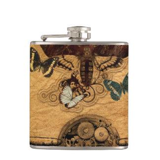 Grunge Steampunk Victorian Butterfly Hip Flask