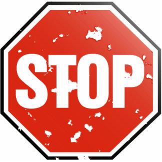 Grunge 'STOP' sign - Photo Sculpture