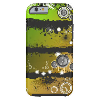 Grunge Style Music Banner Tough iPhone 6 Case