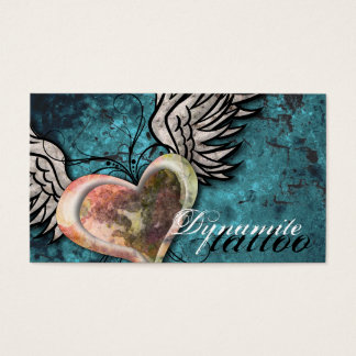 2000 tattooing business cards and tattooing business card grunge texture heart wings tattoo business card friedricerecipe Image collections
