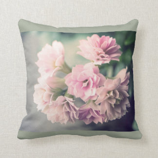 Grunge vintage flower pillow