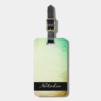 Grunge Vintage Paper with Name Luggage Tag