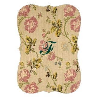 "grunge,vintage,victorian,floral,pink,elegant,chic, 5"" x 7"" invitation card"