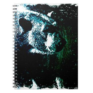 Grunge wilderness wildlife arctic polar bear note books