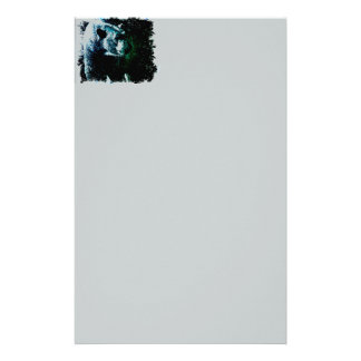 Grunge wilderness wildlife arctic polar bear stationery