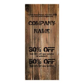 grunge wood texture Construction Carpentry Customized Rack Card