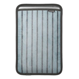 Grungy Gray Stripes on Dusty Blue Sleeve For MacBook Air