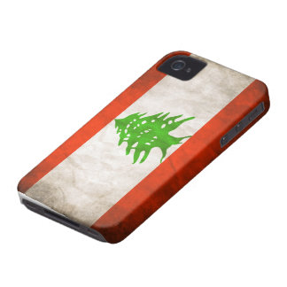 Grungy Lebanon Flag Case-Mate iPhone 4 Case
