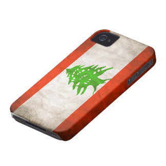 Grungy Lebanon Flag iPhone 4 Case-Mate Case