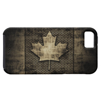 Grungy Metal Canadian Flag iPhone 5 Covers