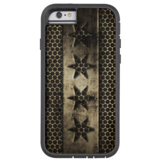 Grungy Metal Chicago Flag Tough Xtreme iPhone 6 Case