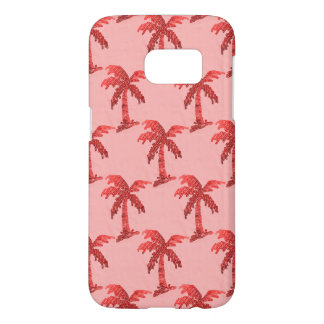 Grungy Pink Sequin Palm Tree Image