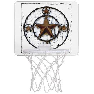 GRUNGY TEXAS STAR MINI BASKETBALL HOOP