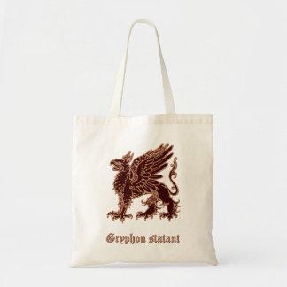 Gryphon medieval heraldry tote bag