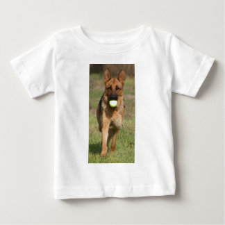 GSD with Tennis Ball Baby T-Shirt