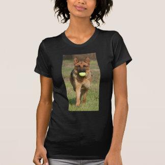 GSD with Tennis Ball T-Shirt