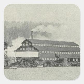 Gualala Mill, California Square Sticker