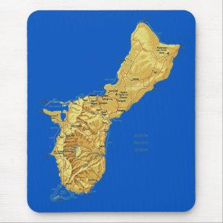 Guam Map Mousepad
