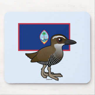 Guam Rail with Flag Mouse Pad