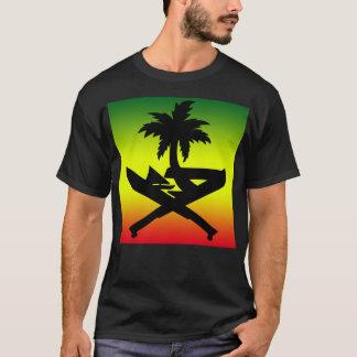 GUAM RUN 671 Reggae Machete Seal Panel T-Shirt