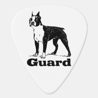 Guard Dog Boston Terrier Guitar Pick
