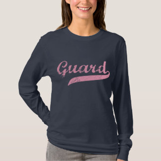 Guard Pink Long Sleeve Blue T-Shirt