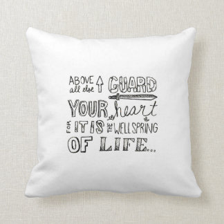 Guard Your Heart Pillow Throw Cushions