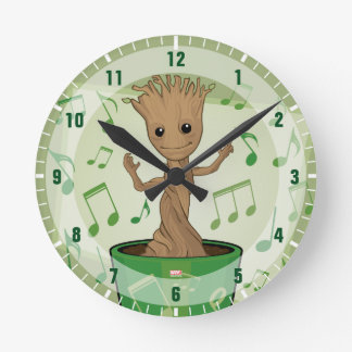 Guardians of the Galaxy | Dancing Baby Groot Round Clock