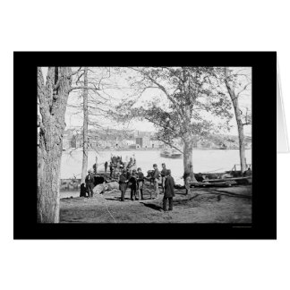 Guards at the Ferry near Georgetown, DC 1864 Card