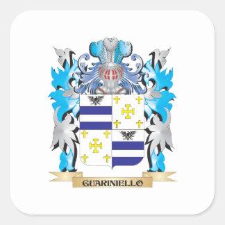 Guariniello Coat of Arms - Family Crest Square Sticker