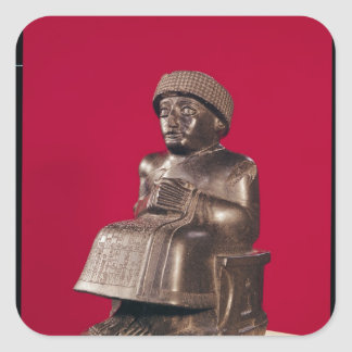 Gudea, Prince of Lagash, dedicated to Square Sticker