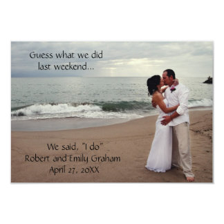 Guess What We Did Wedding-3x5Marriage Announcement