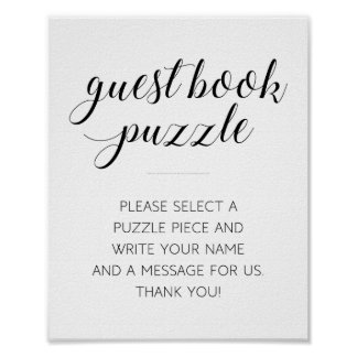 Guest Book Puzzle Wedding Sign - Alejandra