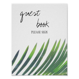 Guest Book Sign - Greenery Wedding