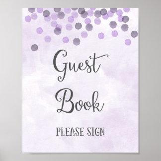 Guest Book Wedding Poster Print
