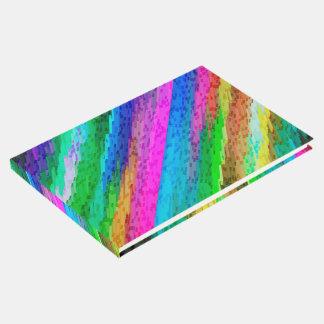 Guestbook Colourful digital art splashing G478