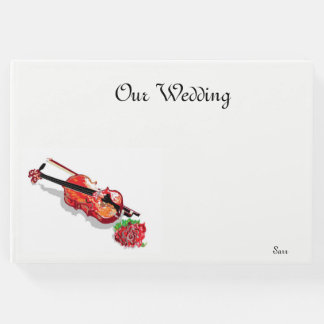 Guestbook Our Wedding /Violin with a Rose
