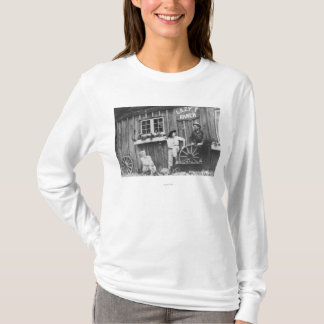 Guests Outside a Lazy F Ranch Bldg T-Shirt