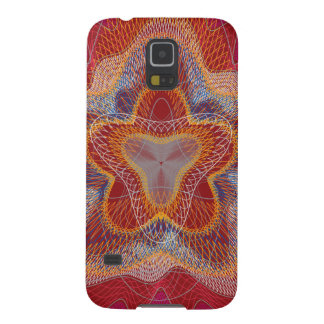 Guilloche Pattern Lines dark rd Galaxy S5 Covers